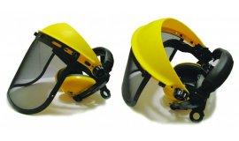 Síťkový obličejový štít s chrániči sluchu