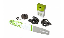 Lišta 40cm + 2x řetěz 60 článků 3/8 1,5mm + řetězka  Husqvarna 268