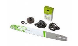 Lišta 50cm + 2x  řetěz 72 článků 3/8 1,5mm + řetězka  Husqvarna 268