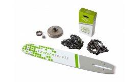 Lišta 40cm + 2x řetěz 60 článků 3/8 1,5mm + řetězka Husqvarna 365